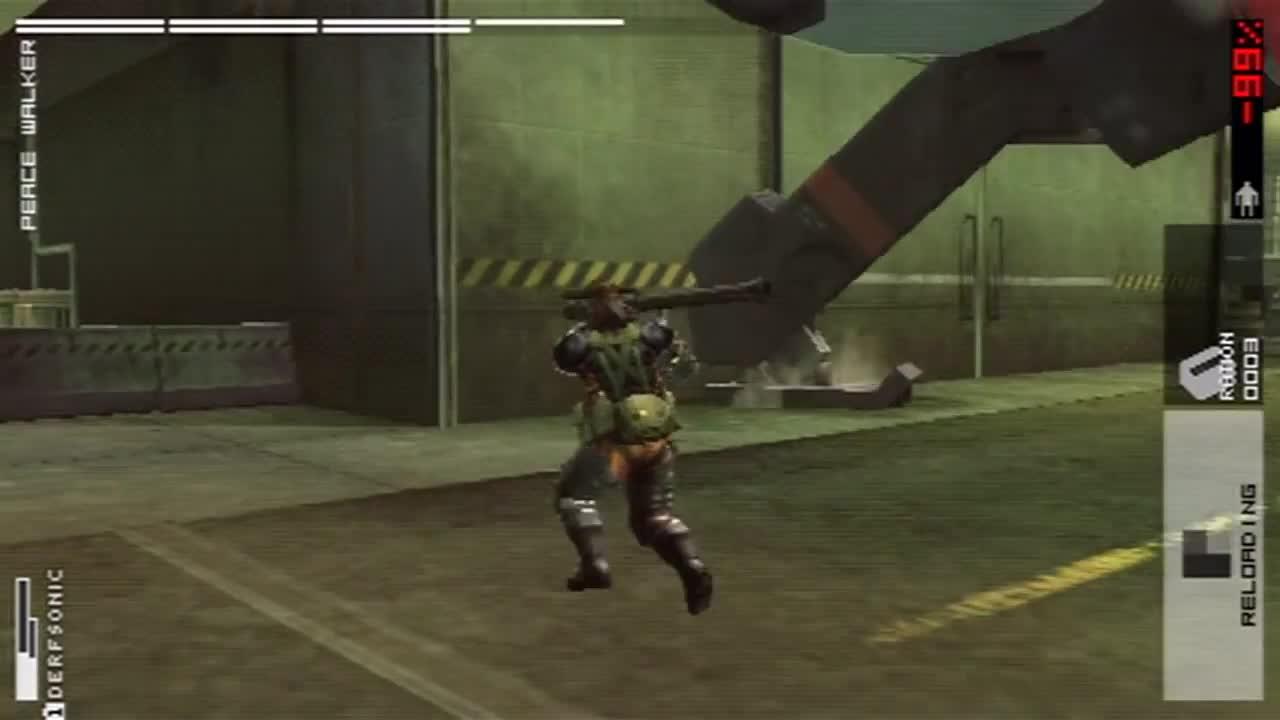 Boss Battle, Boss Fight, Gaming, Gear, Jump, Leap, MGS, MGSPW, Metal, Metal Gear, Metal Gear Solid, Mobility, Peace, Peace Walker, Solid, Walker, Peace Walker: Mobility GIFs