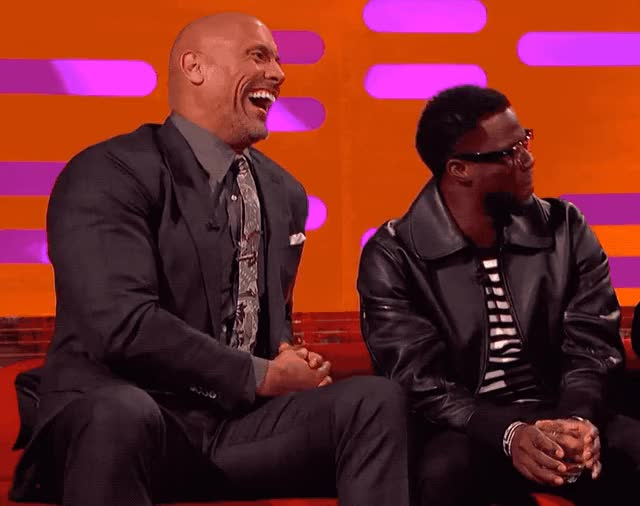 Watch this dwayne johnson GIF by Reactions (@ioanna) on Gfycat. Discover more dwayne johnson, funny, graham, hart, hilarious, joke, kevin, kevin hart, laugh, lol, loud, norton, out, rock, show, the GIFs on Gfycat