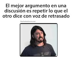 Watch and share Funny Frase HAHAHA Dave Grohl Foo Fighters Textos Español GIFs on Gfycat