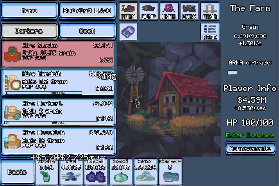gamedev, incremental game, Bullet Streak | Build Up The Base | Nov 19th 2017 GIFs