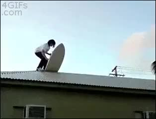 Watch HMB while I surf down the roof GIF on Gfycat. Discover more holdmybeer GIFs on Gfycat
