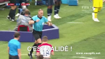 Watch and share France-vs-Croatia-4-2-FIFA-World-Cup-Russia-2018-Final-Ivan-Perisic-Handball-VAR-Refree-Penalty GIFs on Gfycat