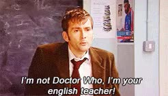10th Doctor ~ Bilbo Baggins ~ Rory Williams ~ Mary EuniceYay GIF