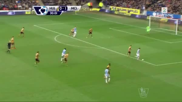 Watch and share Amazing Zabaleta Volley From 2 Angles. 1 Real Time And 1 From Behind Showing The Curve On The Ball (reddit) GIFs on Gfycat