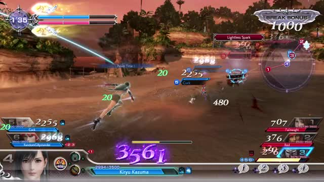 Watch and share Dissidia NT - Tifa Meteodrive Double One Shot GIFs by deathchaos on Gfycat