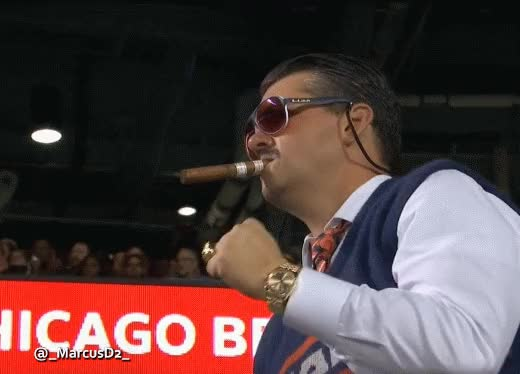 Watch and share Chicago Bears Fan Mike Ditka Look A Like GIFs by MarcusD on Gfycat