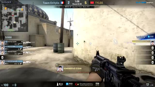 Watch and share SOMEBODY (TyLoo( Cheating | WESG 2016 Grand Final GIFs on Gfycat