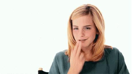 emma watson, flirty, kiss GIFs
