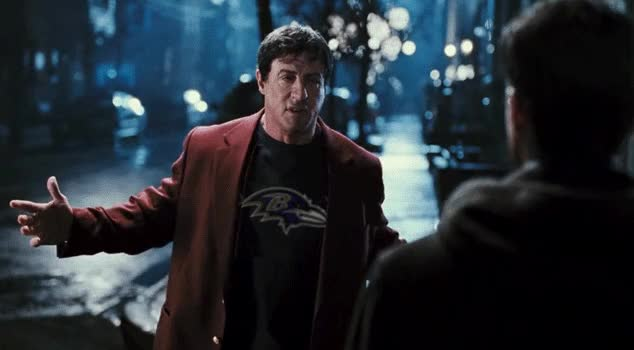 Watch and share Sylvester Stallone GIFs and Ravens GIFs by benmrosen on Gfycat