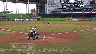 Watch and share Giancarlo Stanton Baseball Gif GIFs on Gfycat