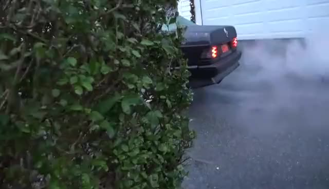 Watch and share Burnout Mercedes 190E Turbo GIFs on Gfycat