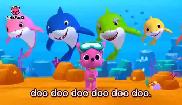 Watch and share Baby Shark   Sing And Dance!   Animal Songs   PINKFONG Songs For Children GIFs on Gfycat