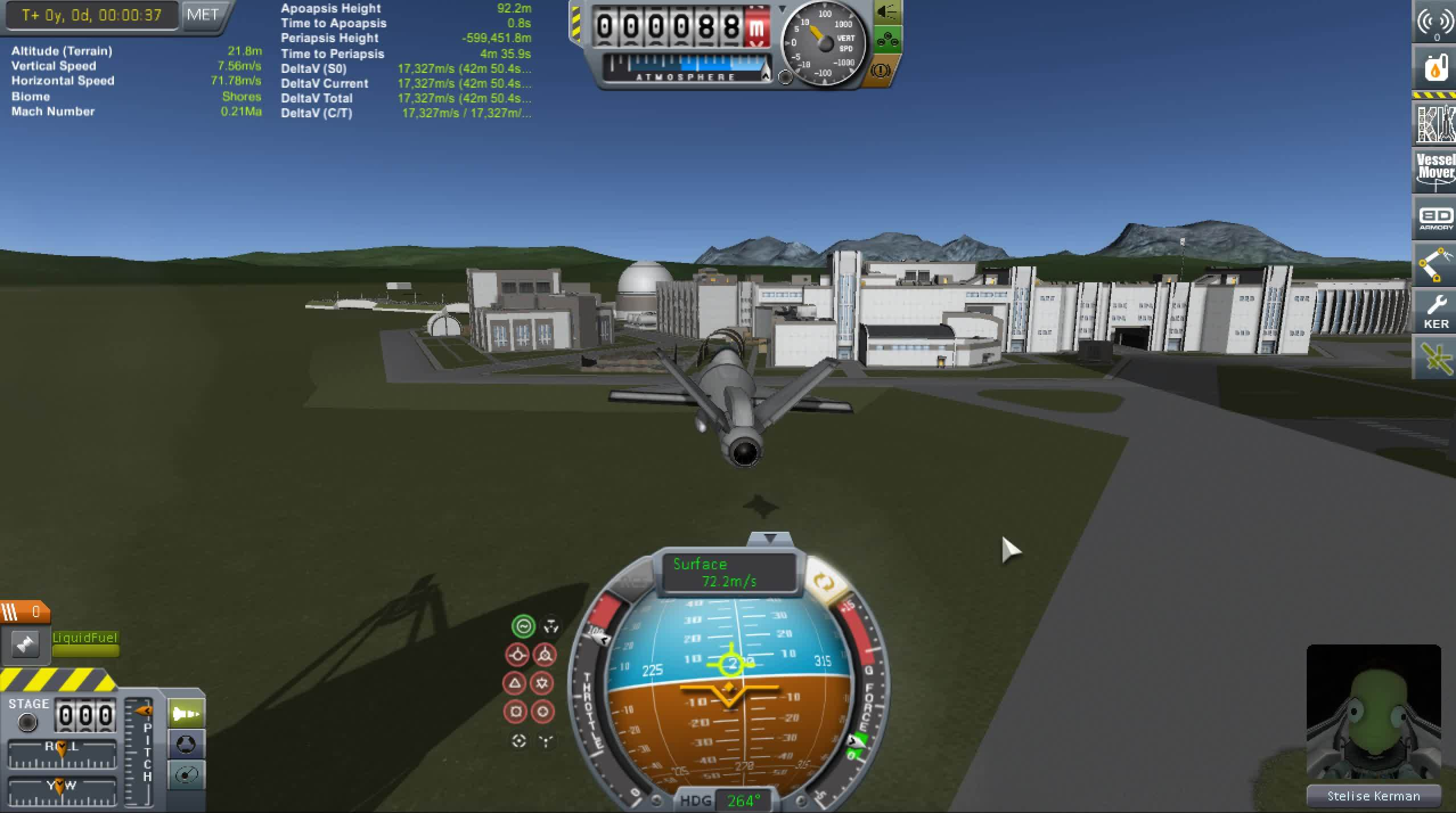 gifsthatendtoosoon, kerbalspaceprogram, Flying through a tiny hangar in KSP GIFs
