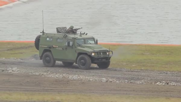 militarygfys, This is the Terminator tank support vehicle. Lots more gfys from RAE 2013 in comments. (reddit) GIFs