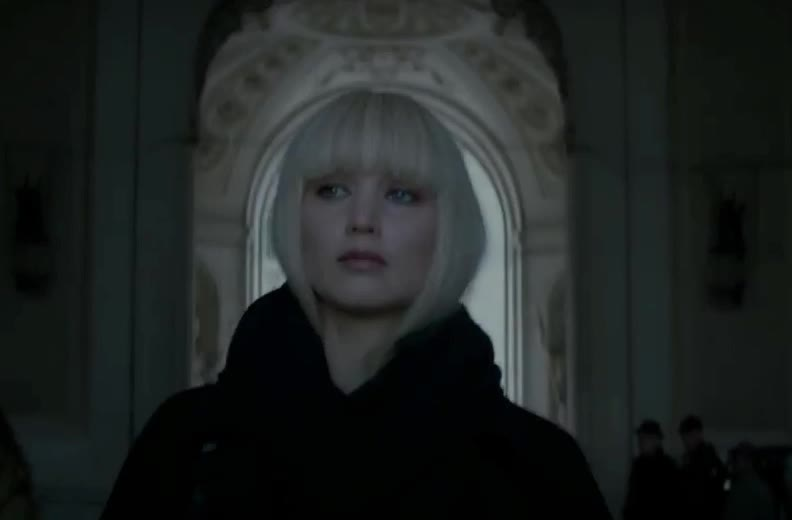away, hot, jennifer, jennifer lawrence, lawrence, model, red, sexy, sparrow, star, walk, Red Sparrow  GIFs
