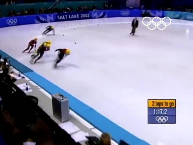 Watch The Most Unexpected Gold Medal In History - Steven Bradbury | Salt Lake 2002 Winter Olympics GIF on Gfycat. Discover more 2002 salt lake, 2002 winter olympics, nevertellmetheodds GIFs on Gfycat