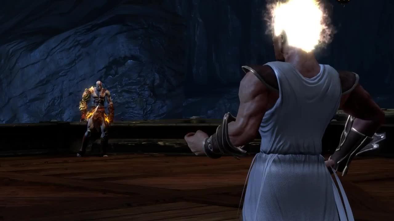 God Of War 3 Remastered Hermes Boss Fight PS 4 1080 P 60 Fps