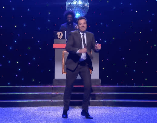 dance, dancing, disco, jimmy fallon, party, the tonight show, Fast Dance-Off with Jennifer Lopez GIFs