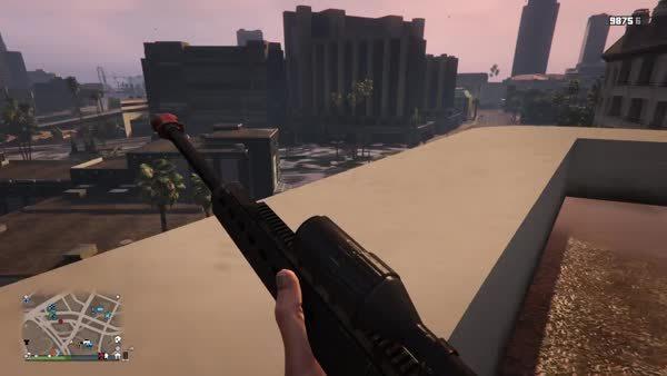 grandtheftautov, 1 bullet 2 kills (reddit) GIFs