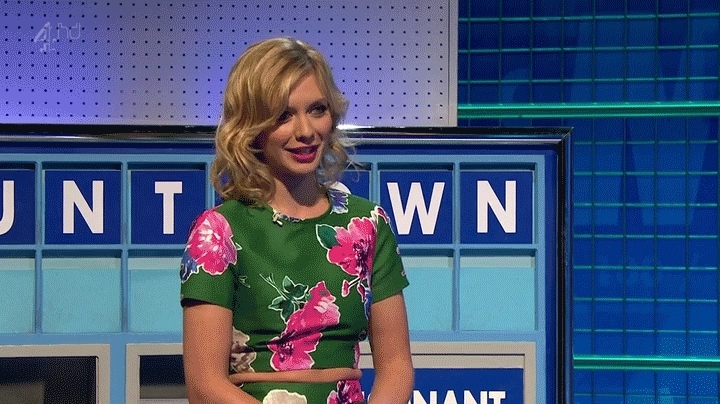 RachelRiley, rachelriley, whatisagif, An unfortunate word on Countdown, left Rachel Riley red-faced. (reddit) GIFs