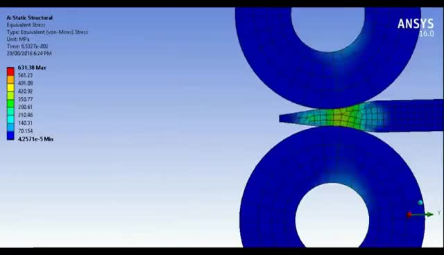 Watch and share Analysis Of Metal Rolling Process | ANSYS GIFs on Gfycat