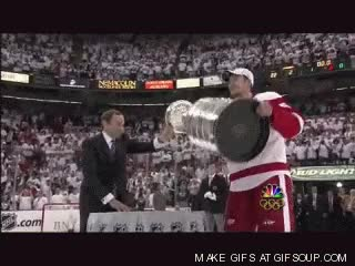 Watch and share Lidstrom Lifts Stanley Cup GIFs on Gfycat