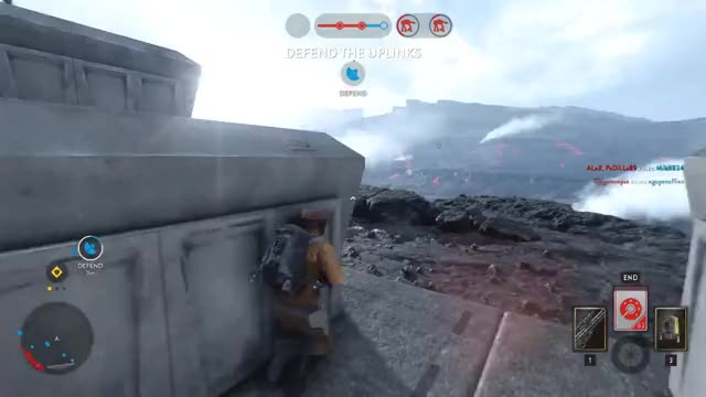 Watch and share SWBF - Sniping Guy Mid Air From Ground GIFs by dominator on Gfycat