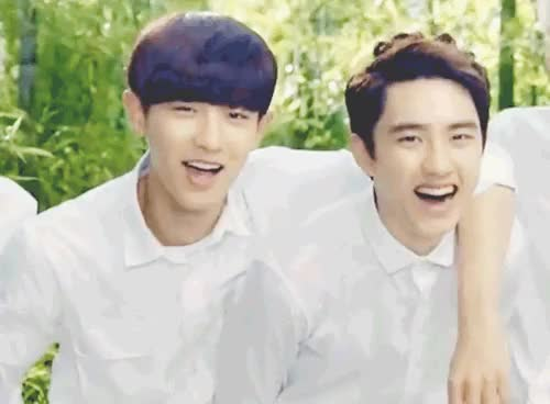 Watch and share Chanyeol X Kyungsoo GIFs and Park Chanyeol GIFs on Gfycat