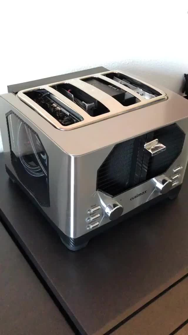 Watch PC Toaster GIF by @technabob on Gfycat. Discover more computer, mods, pc, toast GIFs on Gfycat