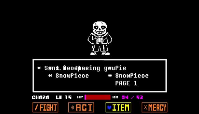 Watch and share Undertale: Sans Battle - One Try GIFs on Gfycat