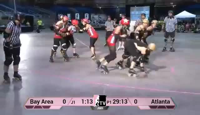 multi-player block, roller derby, multiplayer block GIFs