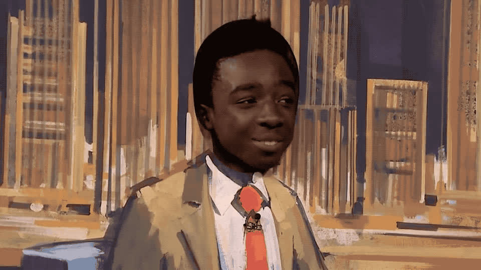 agree, aha, caleb, cardboard, fallon, jimmy, mclaughlin, nod, nodding, oh, oh yes, ok, scenery, show, smile, stranger, things, tonight, yeah, yes, Caleb McLaughlin - Oh yeah GIFs