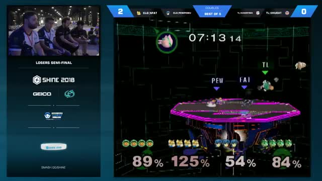 Watch High Level Teams Action GIF on Gfycat. Discover more Hungrybox/ChuDat SFAT/PewPewU, Hungrybox/ChuDat vs SFAT/PewPewU, SFAT & PewPewU vs Hungrybox/ChuDat, SFAT/PewPewU Hungrybox/ChuDat, SFAT/PewPewU vs Hungrybox/ChuDat, SFAT/PewPewU vs Hungrybox/ChuDat Shine, Shine, Shine 2018, Smash Melee Doubles: Losers' Semifinals, Super Smash Bros. Melee GIFs on Gfycat