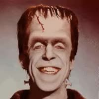 Watch and share Munsters Herman Munster Fred Gwynne Frankenstein Icon Icons Emoticon Emoticons Animated Animation Animations Gif Gifs Happy Halloween GIFs on Gfycat
