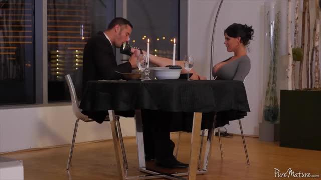 romantic Candlelit Evening With Elegant Beauty Peta Jensen