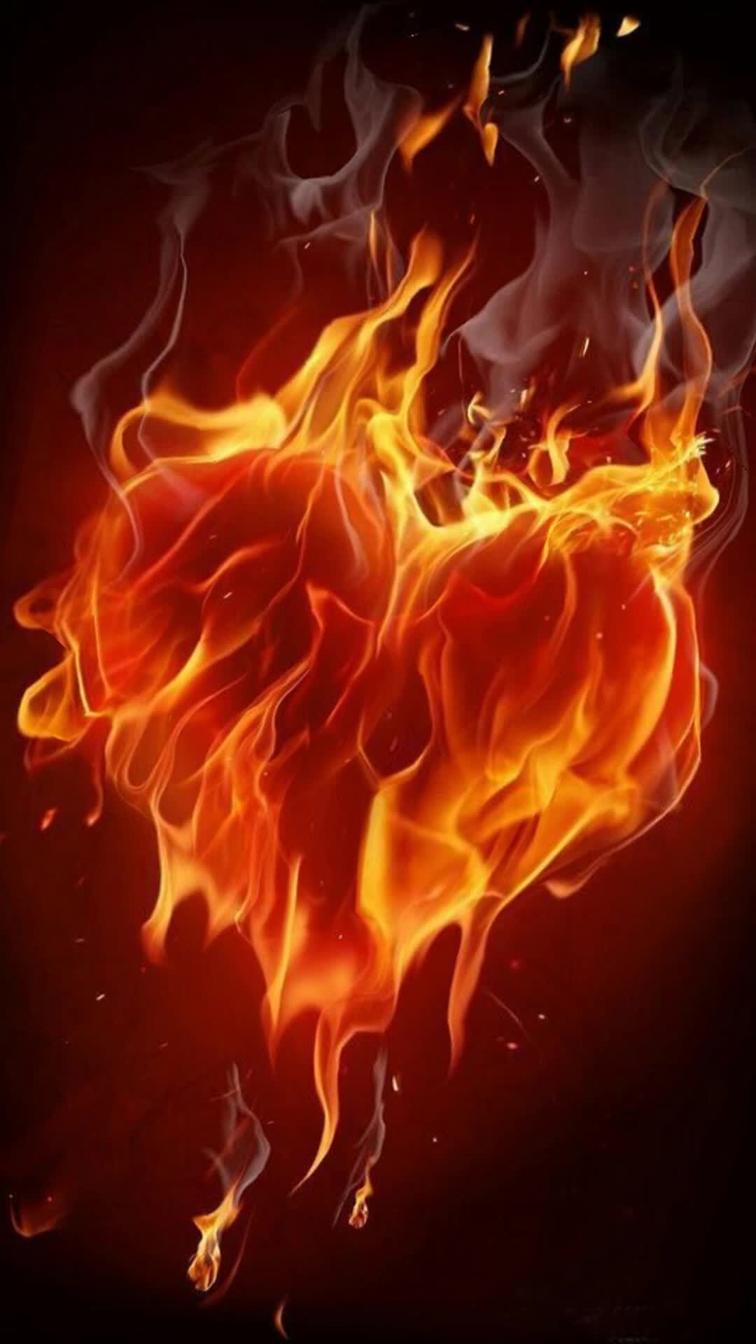 animation, fire, flames, heart, mirage, orange, red, trippy, yellow, Flaming Heart GIFs