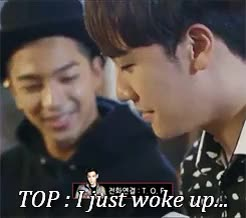 Watch BigBang & Stuff GIF on Gfycat. Discover more 'WHO /DARES/ WAKE HIM UP AT 8PM WITH THEIR OBVIOUSLY UNIMPORTANT CALL', BB:gifs, Bae, HIS VOICE IS SO DARK AND ANGRY AND CREEPY AND SUSPICIOUS, Ri, Tabi, bigbang, further evidence that T.O.P and me are actually the same person, god but when he ANSWERS THE PHONE OMFG, he sounds like a COMPLETE MURDERER hahahaha, like, mybigbangedit, seungri, t.o.p, taeyang GIFs on Gfycat