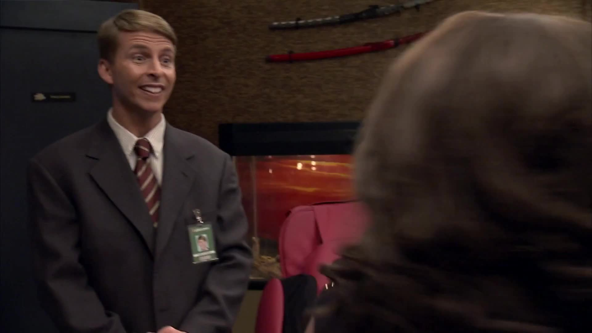 30 ROCK, Angie, Jordan, Queen, S06E20, catch, catchphrase, celebs, cheese, jack mcbrayer, of, phrase, sherri shepherd, some, that, with, That man is about to get some cheese with that GIFs