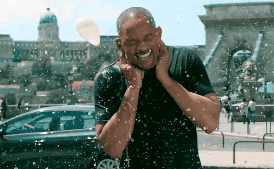 ballon, channel, cold, epic, face, fun, funny, hilarious, lol, motion, prank, slomo, slow, smith, splash, water, wet, will, youtube, youtuber, Will Smith slomo GIFs