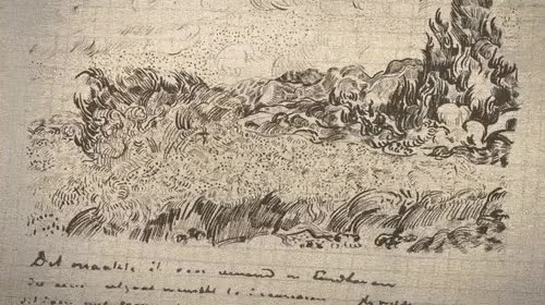 Watch and share Vincent Van Gogh, Wheat Field With Cypresses (1889), Sketch To Painting GIFs on Gfycat