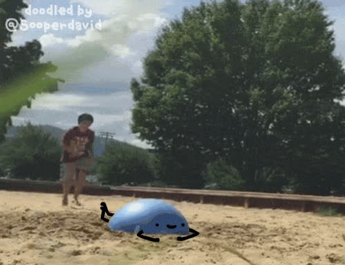 #reallifedoodles, doodles, real life doodles, nice day at the sand pit GIFs