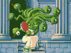 Watch and share Gif Illustration Pixel Art Pixel Medusa GIFs on Gfycat