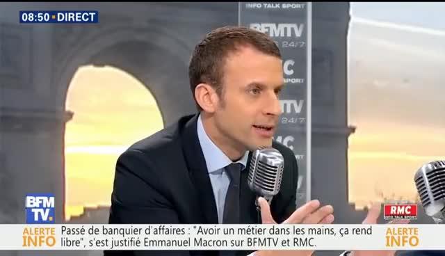Interview D Emmanuel Macron Par Jean Jacques Bourdin Bfmtv Et Rmc Gif Gfycat