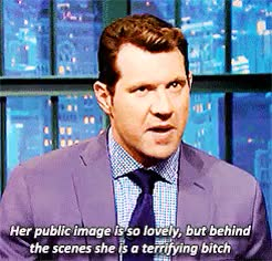 Watch and share Late Night With Seth Meyers GIFs and Billy Eichner GIFs on Gfycat