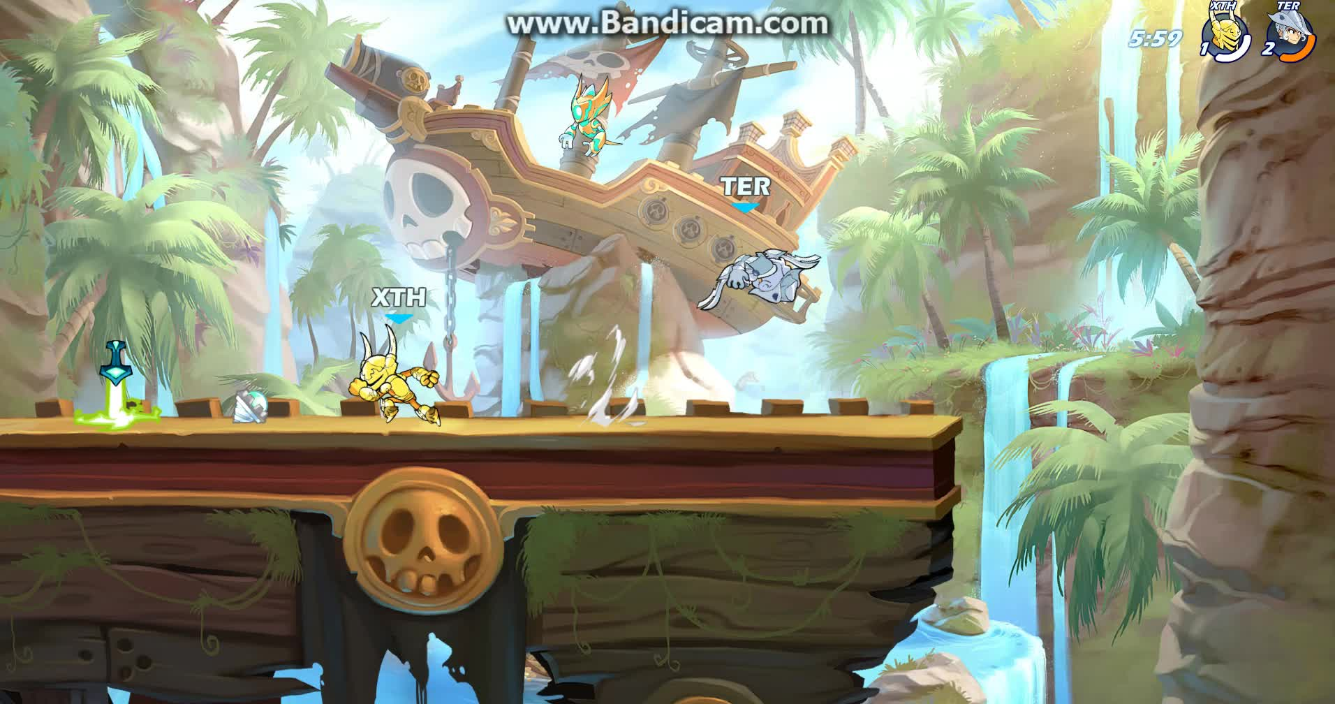 brawlhalla, pirate man's theme goes good on thatch's stage GIFs