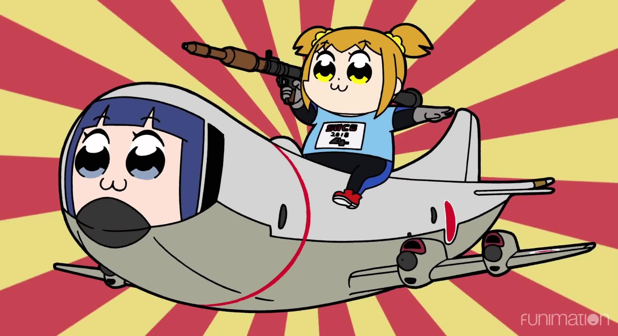 anime, cartoon, comedy, funimation, funny, pop team epic, pop team epic episode 5, New Mode GIFs