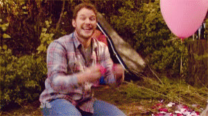 andy dwyer, celebrate, chris pratt, confetti, grand gesture, i love you, love, parks and rec, romance, romantic, rose petals, valentines day, yay, Andy Dwyer Rose Petal Confetti GIFs