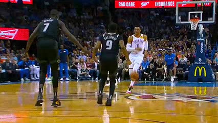 040519, Russell Westbrook and Steven Adams — Oklahoma City Thunder GIFs