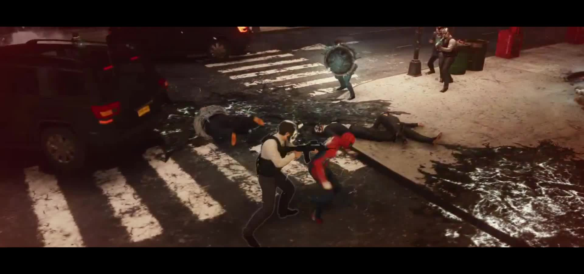 #ps4share, falconbox, funny, games, gaming, marvel, mcu, playstation 4, ps4, ps4share, spider-man, Spider-Man human shield GIFs