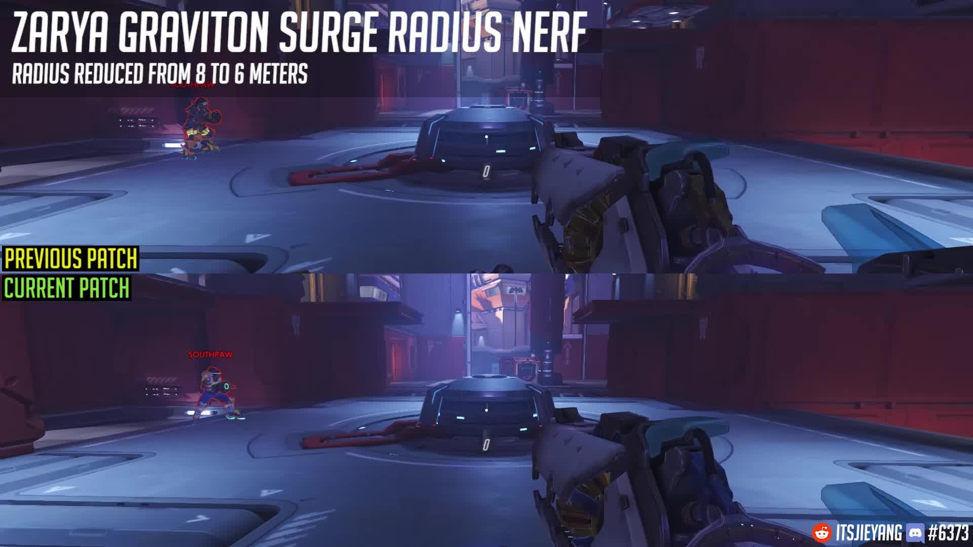 Zarya, overwatch, Overwatch Patch 9th August - Zarya Graviton Surge Nerf GIFs